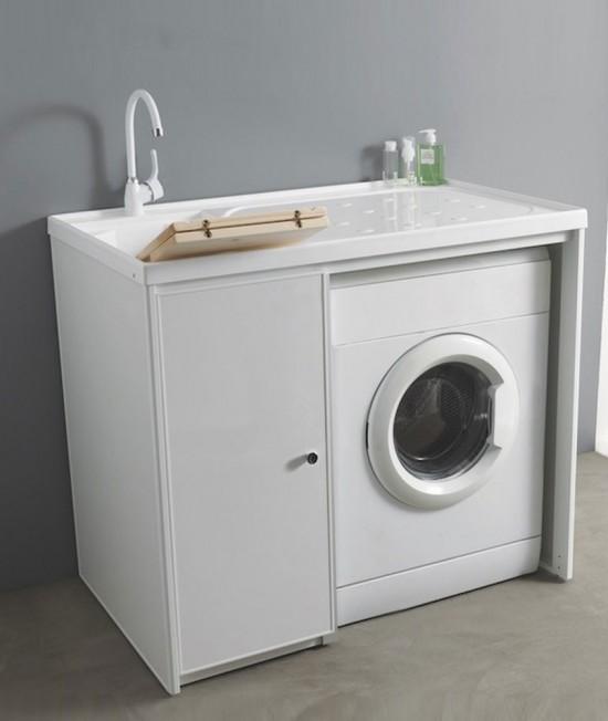 Mobili Per Lavatrici Ad Incasso.Mobile Lavatrice Per Arredo Bagno Lavanderia Senza Ante Jose 107